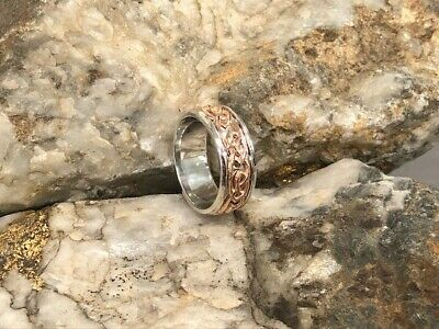 £150 • Buy Official Welsh Clogau Silver & Rose Gold Annwyl Ring £150 Off! SIZE U