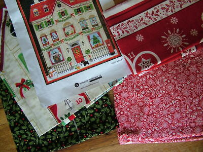 £5.50 • Buy 2 Advent Calendars Christmas House Deer Holiday Makower Cotton Quilting Fabric O