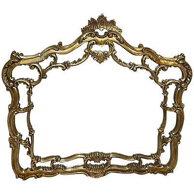 £750 • Buy Large Fine French Regency Gilt Pier Glass Acanthus Crown Wall Overmantle Mirror