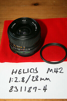 $22.60 • Buy Helios 28mm F/2.8 Wide Angle Prime Lens M42 Screw Mount - Clean, Working Well