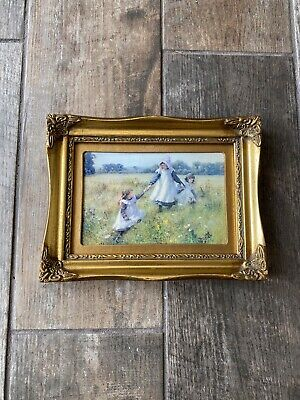 £24.99 • Buy Beautiful Gold Gilt Photo Picture Frame Rococo Style Picking Wildflower Print
