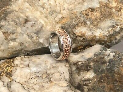 £150 • Buy Official Welsh Clogau Silver & Rose Gold Annwyl Ring £150 Off! SIZE P