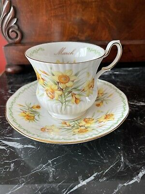 """£8.50 • Buy Beautiful Queen's Rosina China Tea Cup & Saucer """"March"""" Daffodils"""