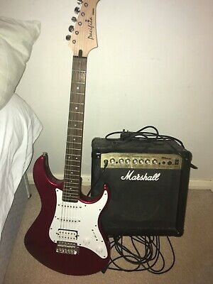 £50 • Buy Yamaha Pacifica Six String Red Electric Guitar With Marshall MG15CDR Series Amp