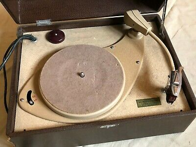 £65 • Buy His Master's Voice HMV 2126 Three Speed Record Player IT WORKS