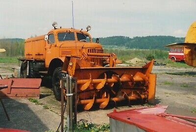 £1.25 • Buy Vintage Airport Runway Snow Plough Photo Truck Photograph Picture Classic Lorry.