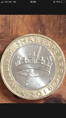 £1.05 • Buy Wiliam Shakespear 2016 Sword And Crown, Jester £2  Two Pound Coin Rare