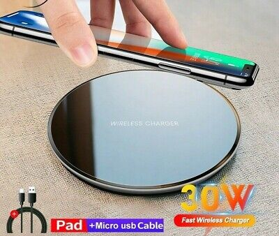 $ CDN13.51 • Buy 30W Qi Wireless Charger Fast Charging Pad Mat For IPhone 12 12Pro 11 For Android