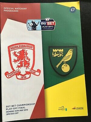 £3.95 • Buy Play Off Final 2015 Middlesbrough  V Norwich Championship
