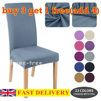 £4.22 • Buy Removable Wedding Dining Chair Seat Covers Slip Stretch Banquet Party