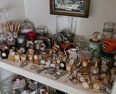 £220 • Buy Huge Job Lot Of Miniature And Other Clocks Collection, Ca 70-80 Each!