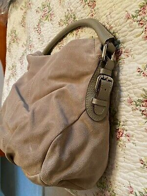 £42 • Buy Authentic Max Mara Suede Leather Beige Hobo / Hand Bag