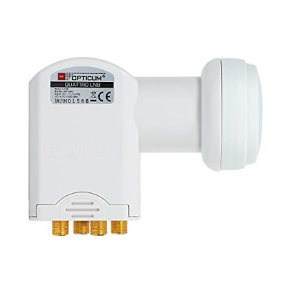 £7.87 • Buy Opticum Quattro LNB–LRP 04H Pins Gold Plated, Full HD, 3D, Only To Be Used In