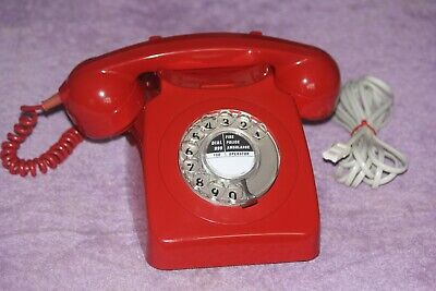 £48 • Buy Vintage GPO 746 RED Dial Telephone Working BT Dated 1976