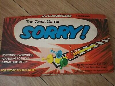 £4 • Buy Sorry! Board Game Waddingtons 1969 Vintage Retro Incomplete Parts Spares