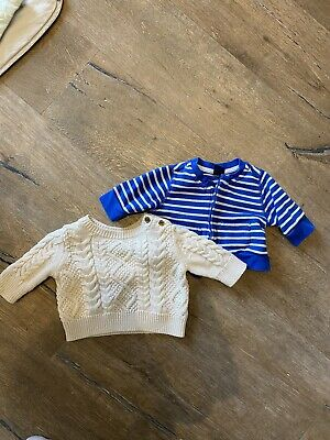 £5 • Buy Gap Cable Knit Baby Jumper And Hoodie Size 0-3