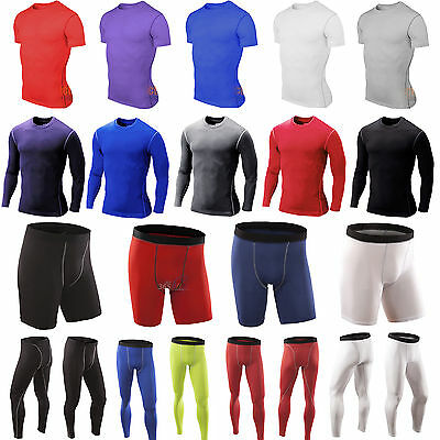 £6.79 • Buy Men's Compression Base Layer T-Shirt Tops Tee Gym Sports Fitness Shorts Leggings