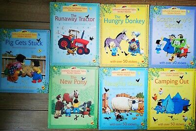 £5 • Buy Usborne Farmyard Tales Sticker Stories 7xbooks Collection Set