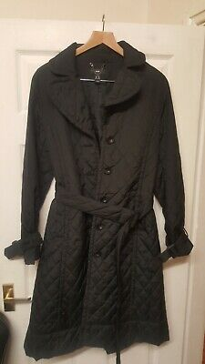 £18.99 • Buy Ladies H & M Black Over Coat Buckle Belt Size 10 20 Inch Pit To Pit Brand New.