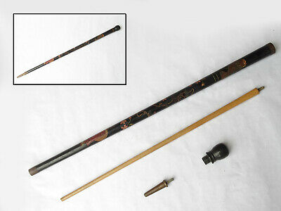 £8.33 • Buy Antique Hand Carved Cane / Billiards Pool Cue Walking Stick WWII Era Japan Map