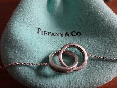 £125 • Buy Tiffany & Co 1837 Necklace Silver Interlocking Circles 16  Length With Bag £350