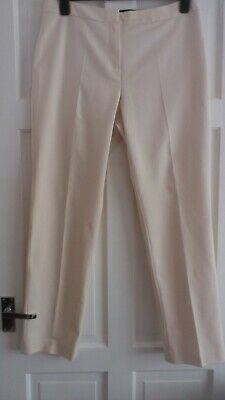 £2.99 • Buy M&S Collection Ivory/Cream Straight Leg Trousers Size 14