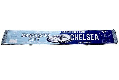 £9.99 • Buy Scarf Manchester Vs Chelsea Final Champions League 2020/2021 Football