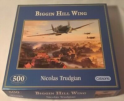 £4.99 • Buy GIBSONS BIGGIN HILL WING 500 PIECE JIGSAW PUZZLE - COMPLETE Spitfires WW2 War