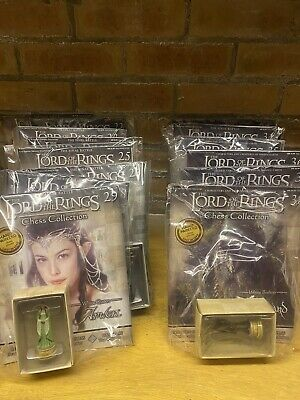£225 • Buy Brand New Job Lot Unopened Lord Of The Rings Collectors Chess Set Magazines
