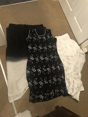 £8.50 • Buy Black And White Monochrome Indian Punjabi Salwar Suit For Size 12