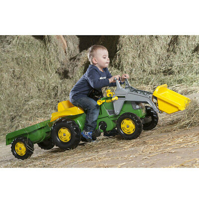 £99.99 • Buy John Deere Tractor Pedal Ride On With Front Loader And Trailer (3+ Years)
