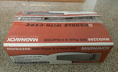 £110.46 • Buy Magnavox MWD 2206 DVD VCR VHS 4 Head Player Combo Player New Open Box