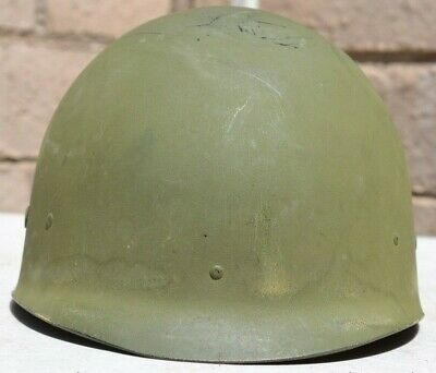 $45 • Buy Us Army M-1 Helmet Liner Early Post Ww 2 All Original Factory Camo Green Paint