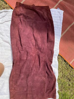 £10 • Buy Real Suede Wrap Skirt By Jaeger
