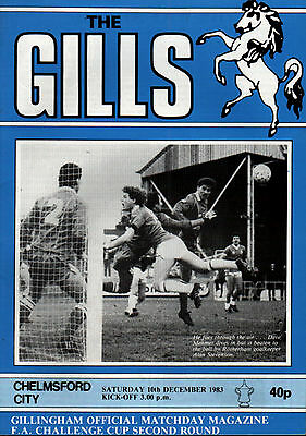 £1.65 • Buy 1983/84 Gillingham V Chelmsford City, FA Cup, PERFECT CONDITION