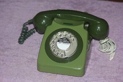 £45 • Buy Vintage GPO 746 GREEN Dial Telephone Working BT Dated 1970