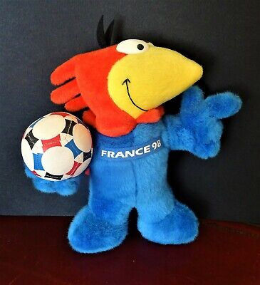 £35 • Buy 1998 World Cup Footix Mascot Cockerel Cuddly Soft Toy (11 Inches Tall)