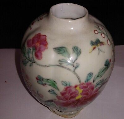 £10 • Buy Chinese Yongzheng Small Tea Caddy Famille Rose Pallette