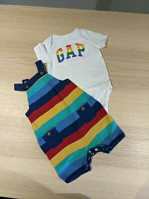£0.99 • Buy Rainbow Baby Outfit Kite/GAP 3-6 Months