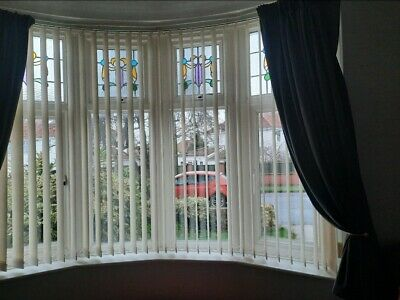 £50 • Buy Bay Window Vertical Blinds Incl Combined Curtain Track