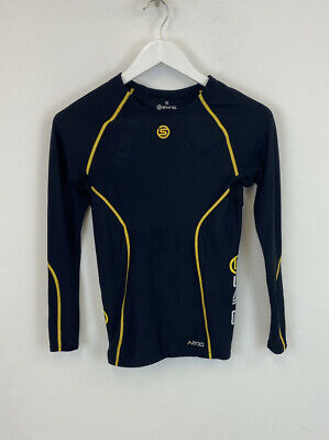 £14.99 • Buy Skins Compression Base Layer Top Black & Yellow Long Sleeve Sz Small Mens