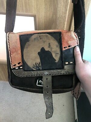 £5 • Buy Real Leather Woman Bag   / Metal / Gothic / Emo / Underground / Wolf / Wild