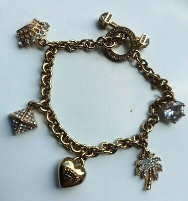 £19.99 • Buy Gorgeous Ladies Juicy Couture Charm Style Bracelet Gold Coloured Plated