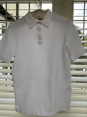 £10 • Buy Men's Reiss Clean Bright White Cotton Polo Shirt XS Top Worn Once