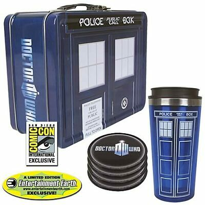 £28.66 • Buy Doctor Who SDCC Exclusive TARDIS Lunch Box Tin Tote Gift Set BRAND NEW