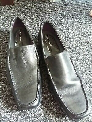 £6.50 • Buy Rockport Black Loafers Mens Size Uk 9.5 Slip On's Great Condition