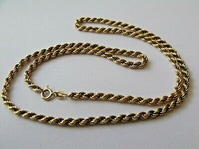 £120 • Buy 9ct 375 Solid Gold Rope Chain Necklace 5.47grams Length 20
