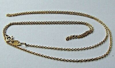 £39 • Buy .375 9ct Italian YELLOW GOLD Fine Cable Chain Necklace, 18  0.94g