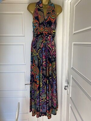 £20 • Buy Phase Eight Multi Stretch Maxi Summer Dress Wedding Party Size 10