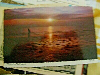 £2.25 • Buy Postcard,  Sunset On The Beach , 1970s, Valentine, Unposted